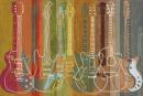 גיטרות צבעוניות חשמליות גיטרה חשמלית אקוסטית צבעים מורשת גיטרות