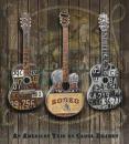 לוחיות רישוי גיטרות צבעוניות חשמליות גיטרה חשמלית אקוסטית צבעים לוח עץ כחול אדום לבן שלשה אמריקאית