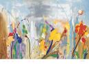 פרחים צבעוניים אביב שדה פרחים