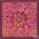 אתני טלאים צבעוני אסייתי הודי  סגול כתום קלידוסקופ רקמה הודית 2